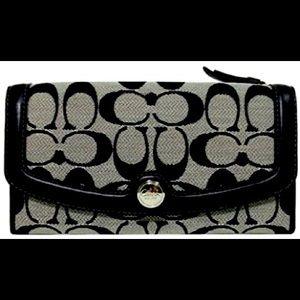COACH Hampton Slim Envelope Wallet Black/White
